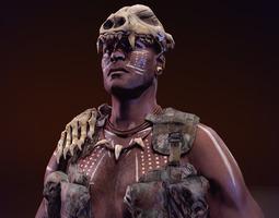 Tribal Warrior 1 3D Model