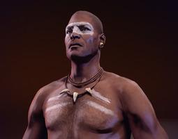 Tribal Warrior 2 3D Model