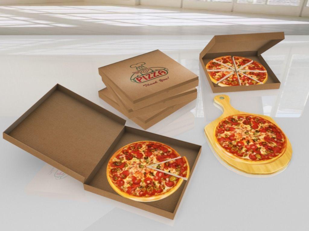 Pizza Mega Pack  - Low Poly 3D model VR - AR - low-poly 3d model