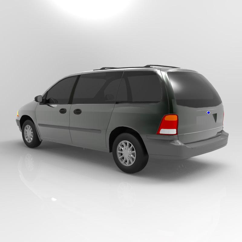 Ford Windstar 2000 3D Model .obj