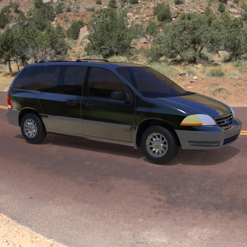 Ford windstar 2000 3d model obj cgtrader com