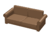 couch with two seats 3D Model
