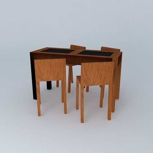 Table haute free 3d model max obj 3ds fbx stl skp for Table 6 haute pocket