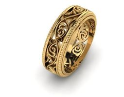 Ring with tracery2 3D Model