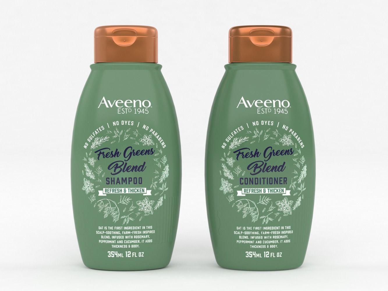 Aveeno Fresh Greens Blend Shampoo and Conditioner