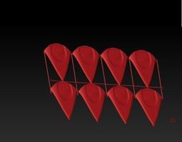 Breakaway guitar picks 3D printable model