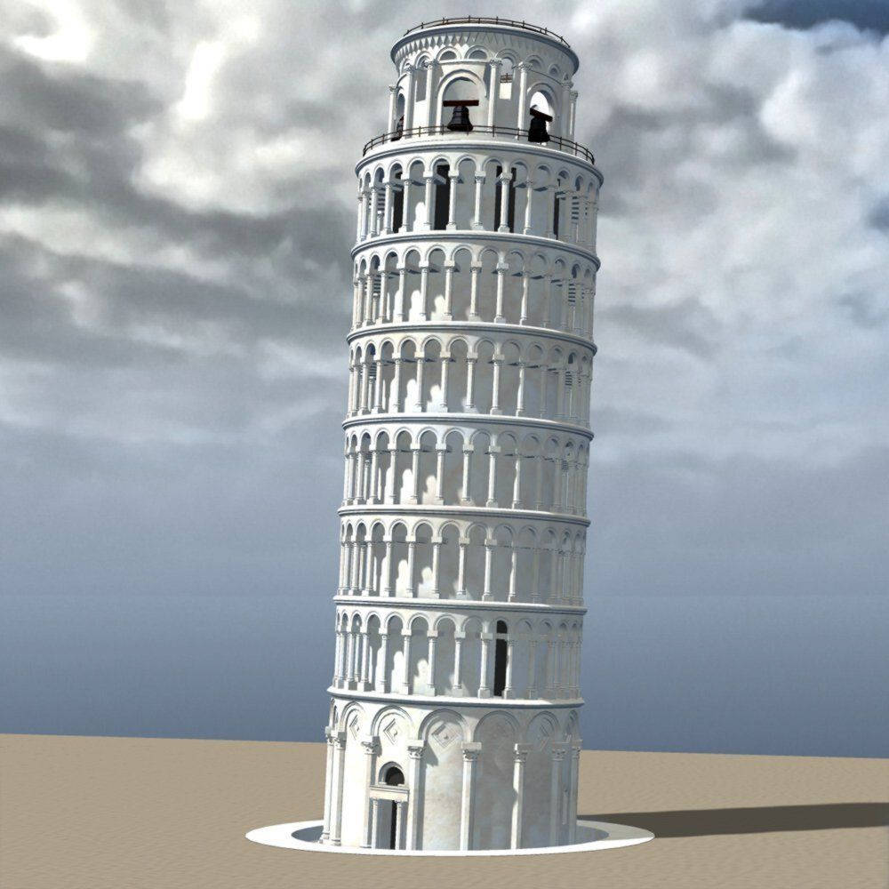 Leaning Tower of Pisa in multiple formats