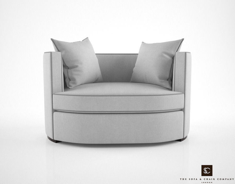The Sofa and Chair Company Love Seat armchair 3D Model MAX ...