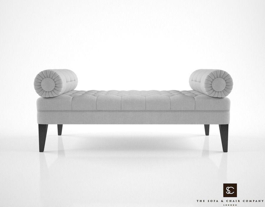 Superb The Sofa And Chair Company Milton Bench 3D Model Pabps2019 Chair Design Images Pabps2019Com