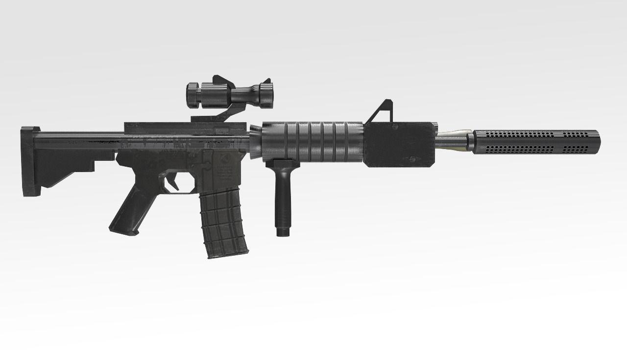 3d Model Colt C8 Canada Rifle Vr Ar Low Poly Max Obj