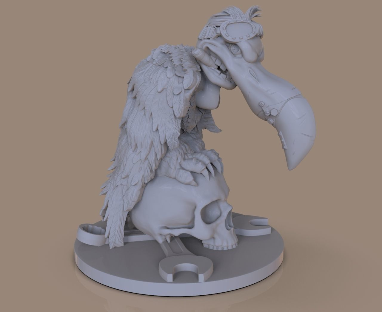 Figurines stylized vulture