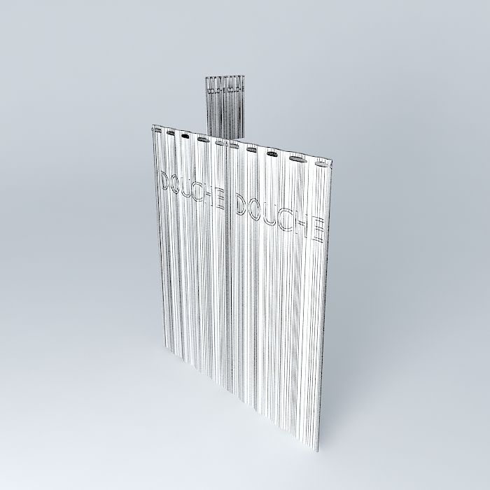 Translucent Shower Curtain 3d Model Max Obj 3ds Fbx Stl Skp 5