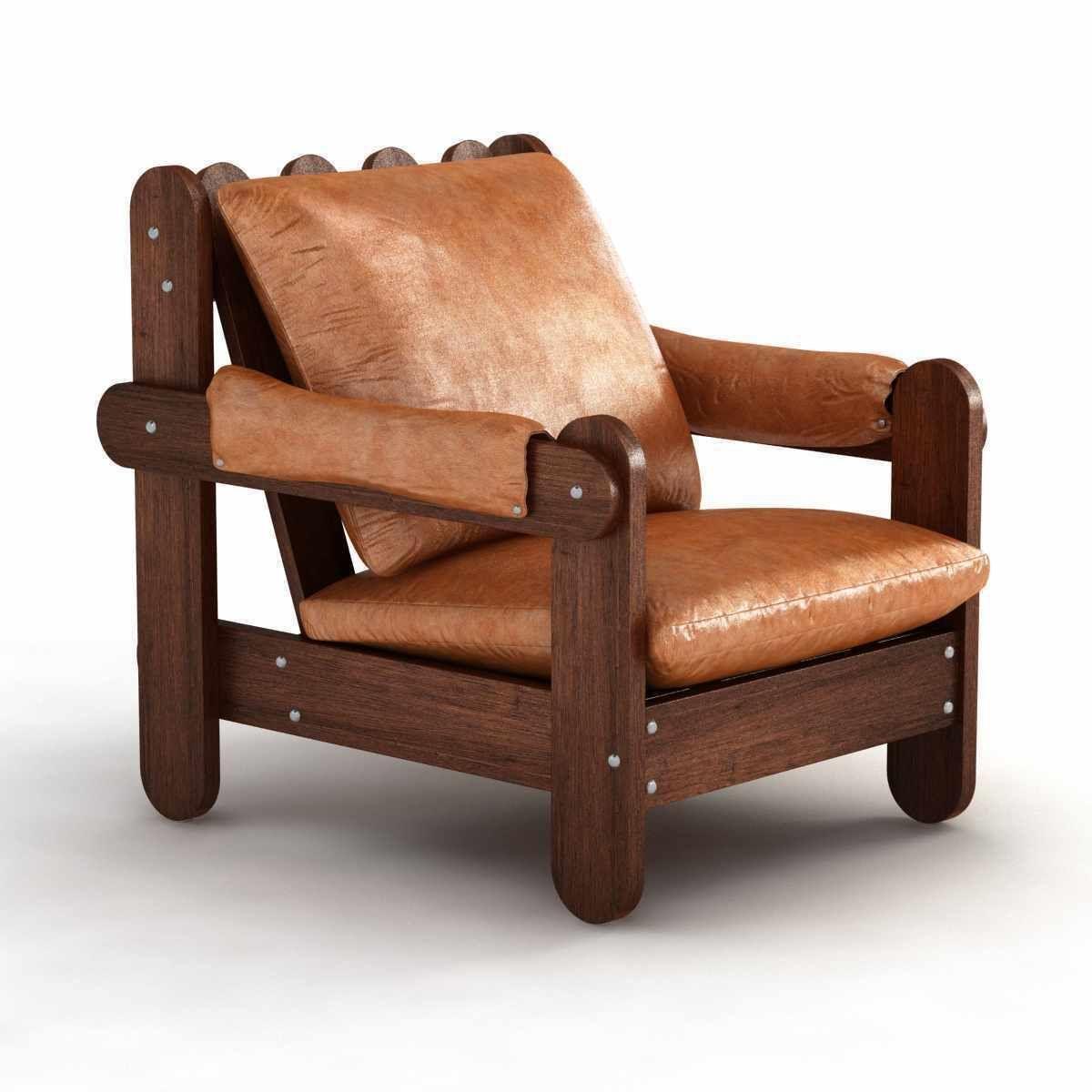Fantastic Vintage Mid Century Brazilian Lounge Chair 3D Model 3D Model Ibusinesslaw Wood Chair Design Ideas Ibusinesslaworg