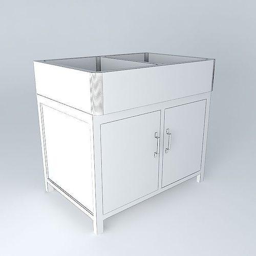 Sink cabinet 3d model max obj 3ds fbx stl skp for Sketchup bathroom sink