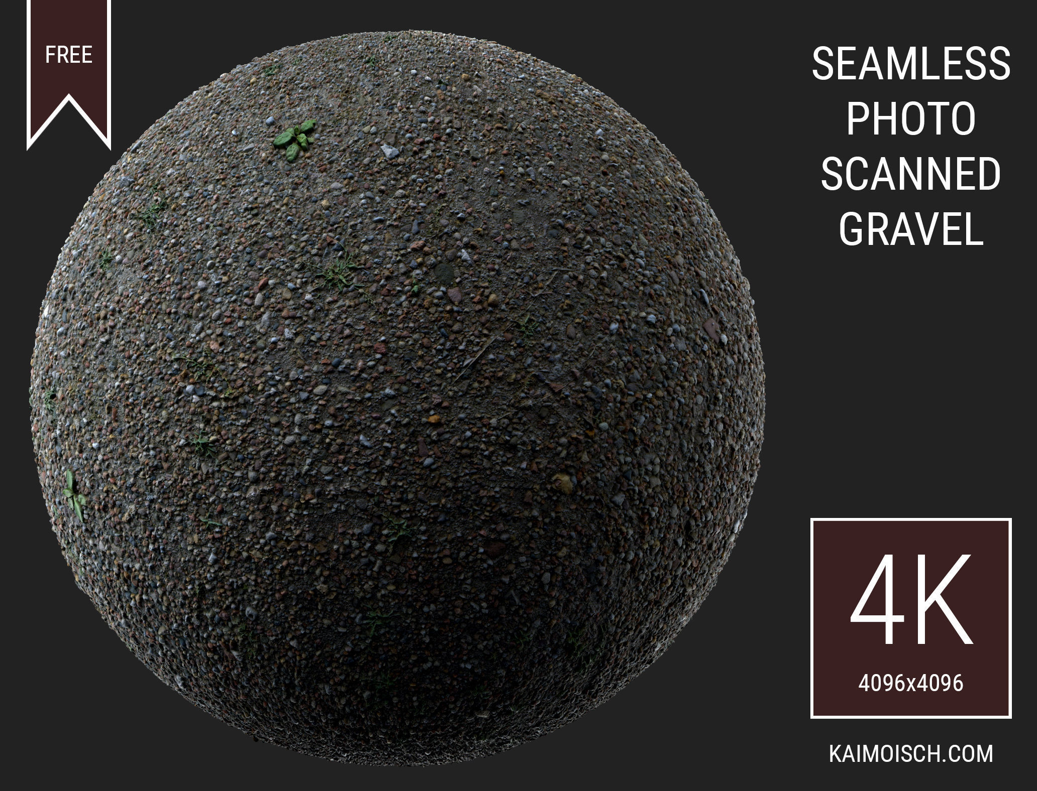 3D Scanned Seamless Gravel
