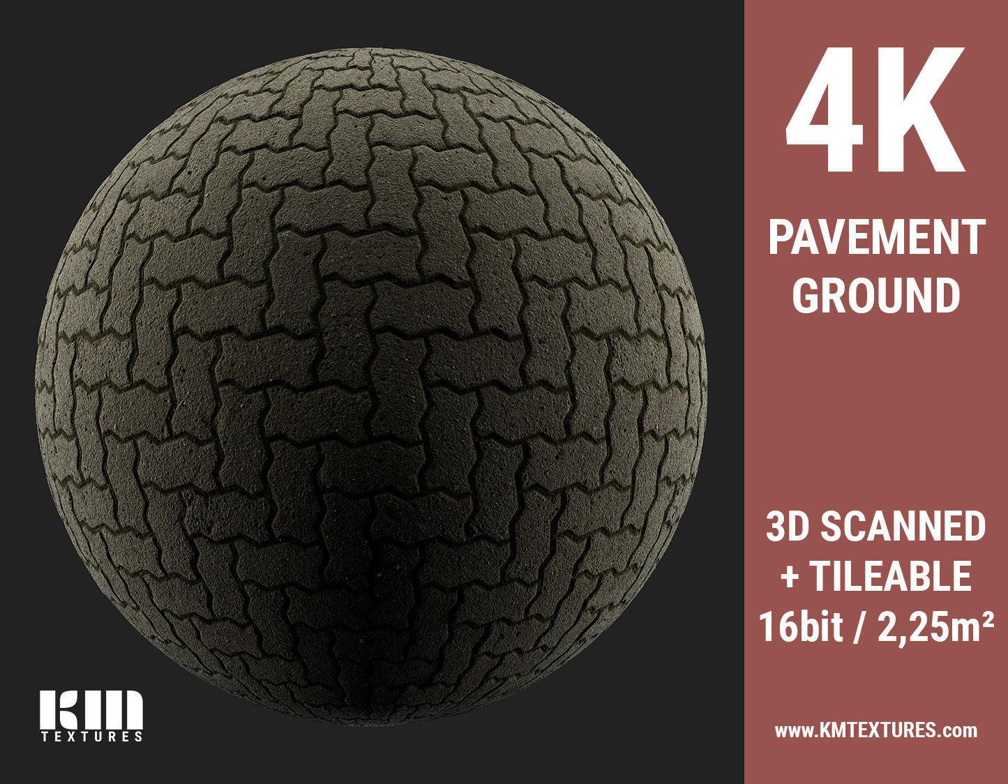 3D Scanned Pavement Herringbone