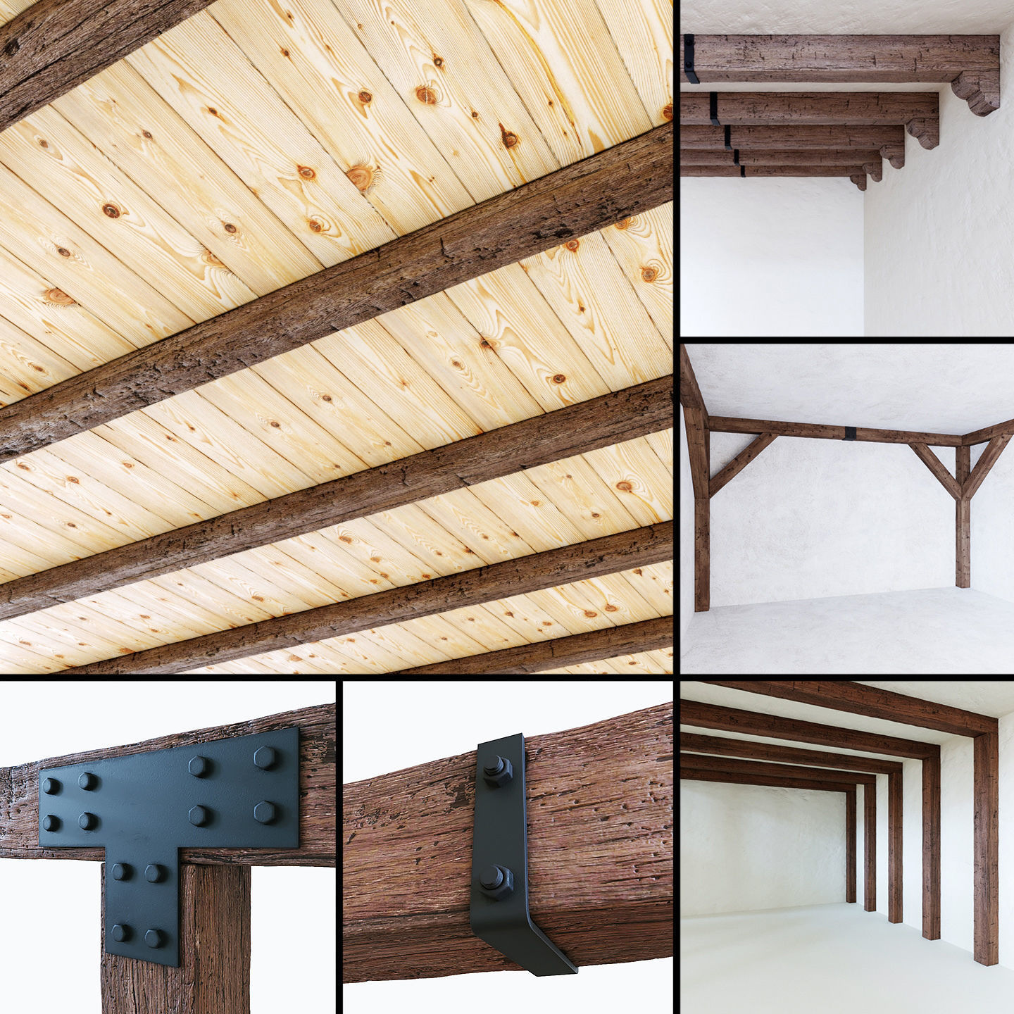 Wooden beams collection