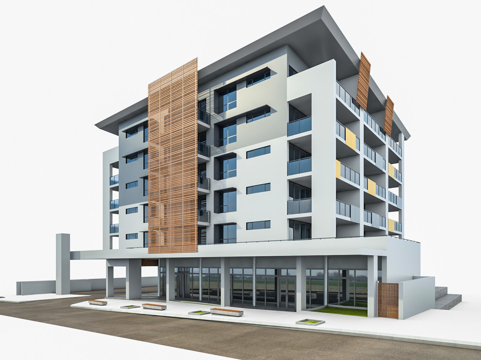 Modern Apartment Building 03 | 3D model