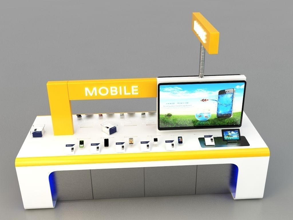 Mobile kiosk 3d model max for Mobili kios
