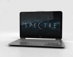 HP Spectre 13-3 inch Ultrabook Silver 3D