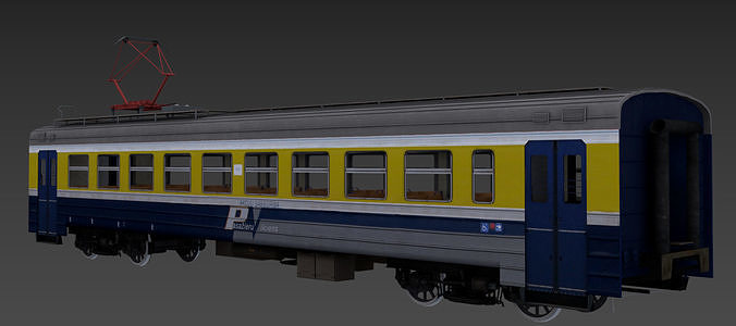 ER-2 EMU Motor Wagon 3D model