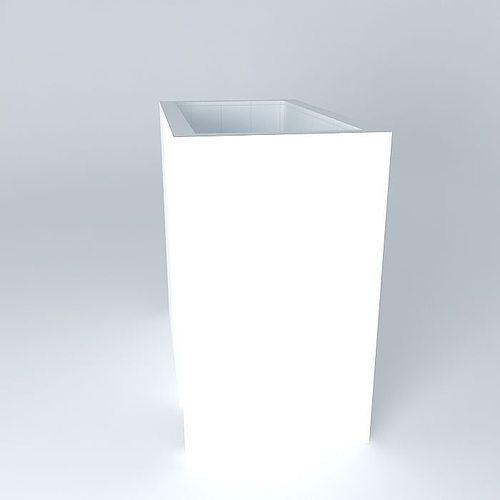 Full bathroom 2 2m x free 3d model max obj 3ds fbx for Bathroom design 2m x 2m