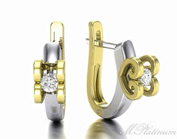 Double Heart EaRRing for the infinite passion8 3D Model