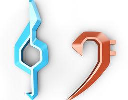 Clefs symbols 3D Model