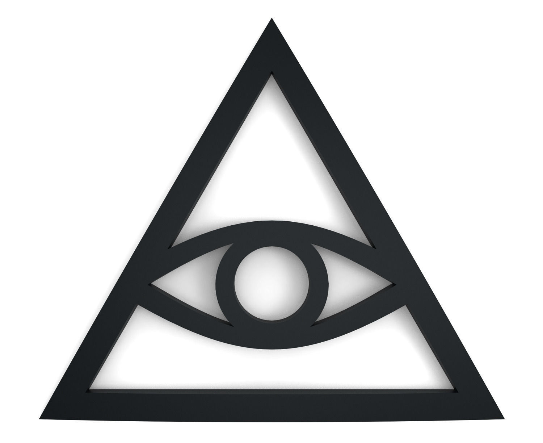 illuminati sign free 3d model 3d printable stl cgtrader