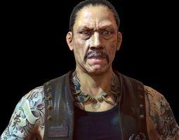 Danny Trejo game res model 3D Model