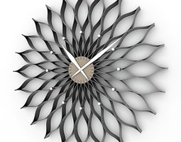 Decorative Wall Clock 01 3D Model