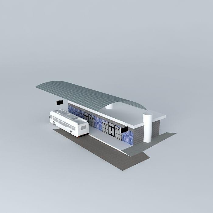 Brt terminal free 3d model max obj 3ds fbx stl skp for Terminal exterior 15 kv