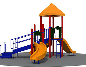 3D Childrens Outdoor Play Station