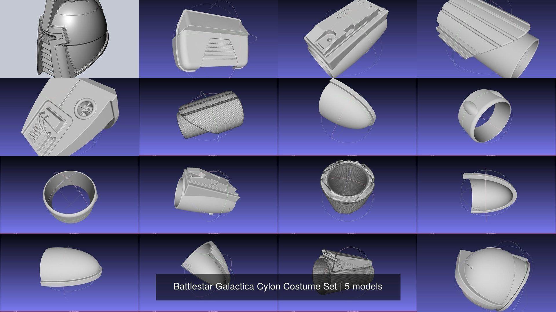 Battlestar Galactica Cylon Costume Set