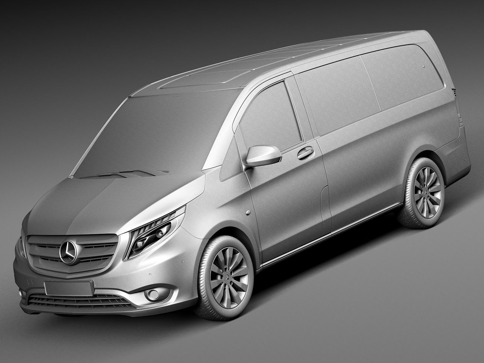 mercedes benz vito tourer 2016 3d model max obj 3ds fbx. Black Bedroom Furniture Sets. Home Design Ideas