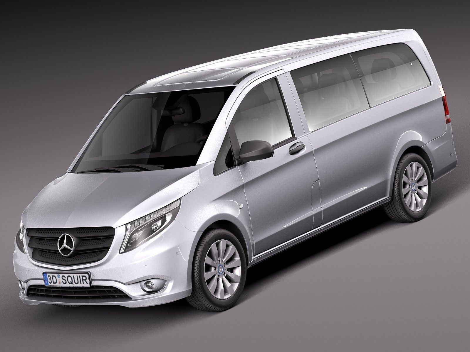 mercedes benz vito tourer 2016 3d model max obj 3ds fbx c4d lwo lw lws. Black Bedroom Furniture Sets. Home Design Ideas