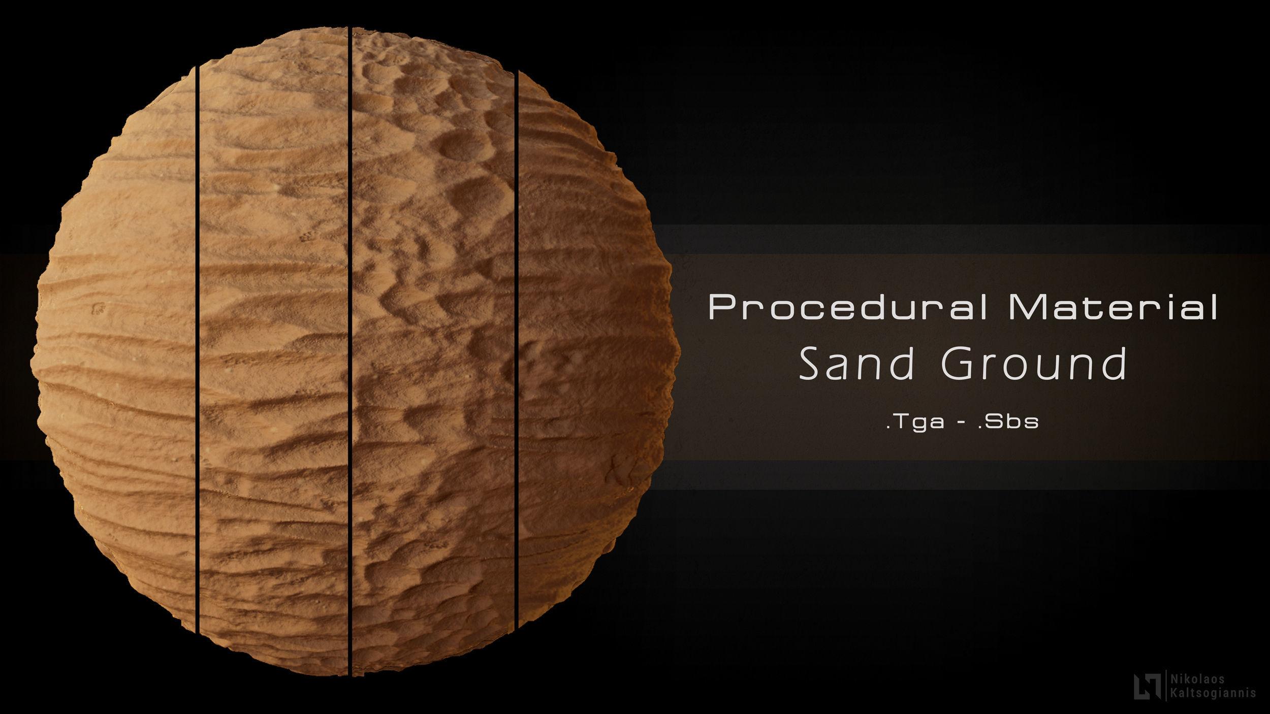 Procedural Sand Material  4 Variations