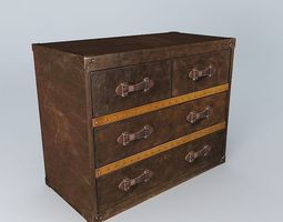 3D model Leather chest