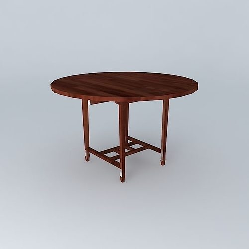 Dining table 3d wood cgtrader for Dining table latest model