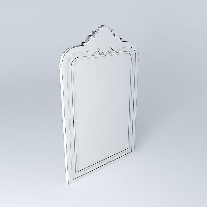 Simple mirror 3d model max obj 3ds fbx stl skp for Mirror 3d model