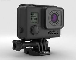 3d model gopro hero3 plus blackout housing
