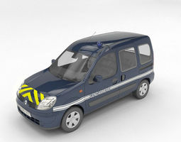 gendarmerie Renault kangoo 3D