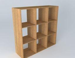 furniture Wooden bookcase 3D model