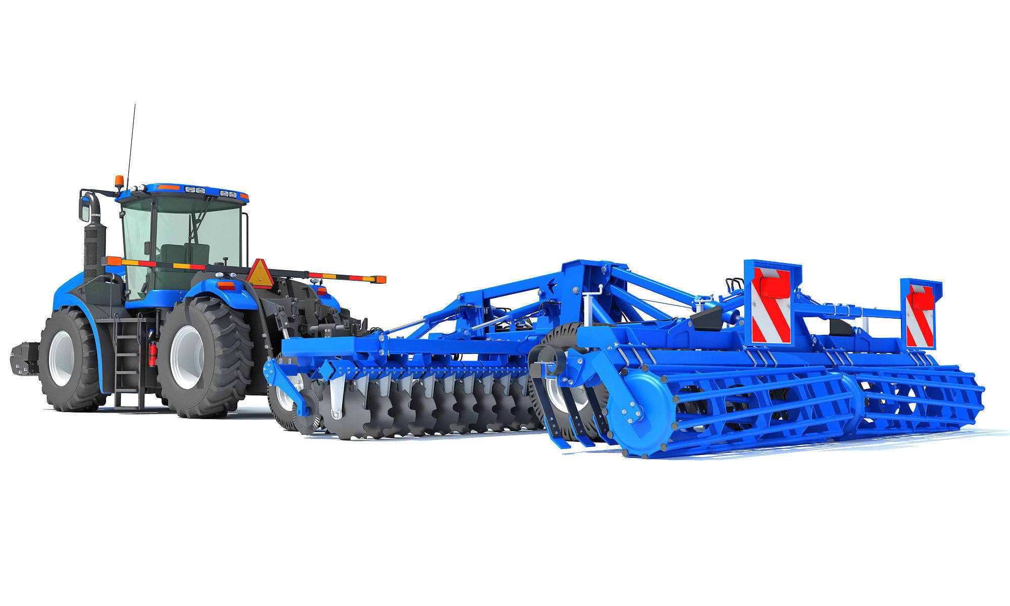 New Holland Tractor with Disc Harrow