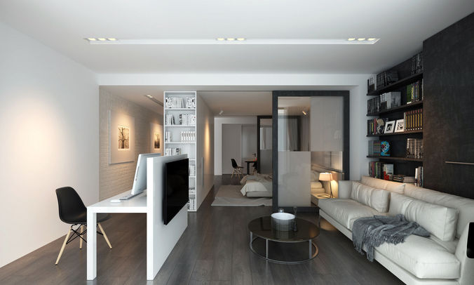 ap3 apartment  1 3d model max fbx 1