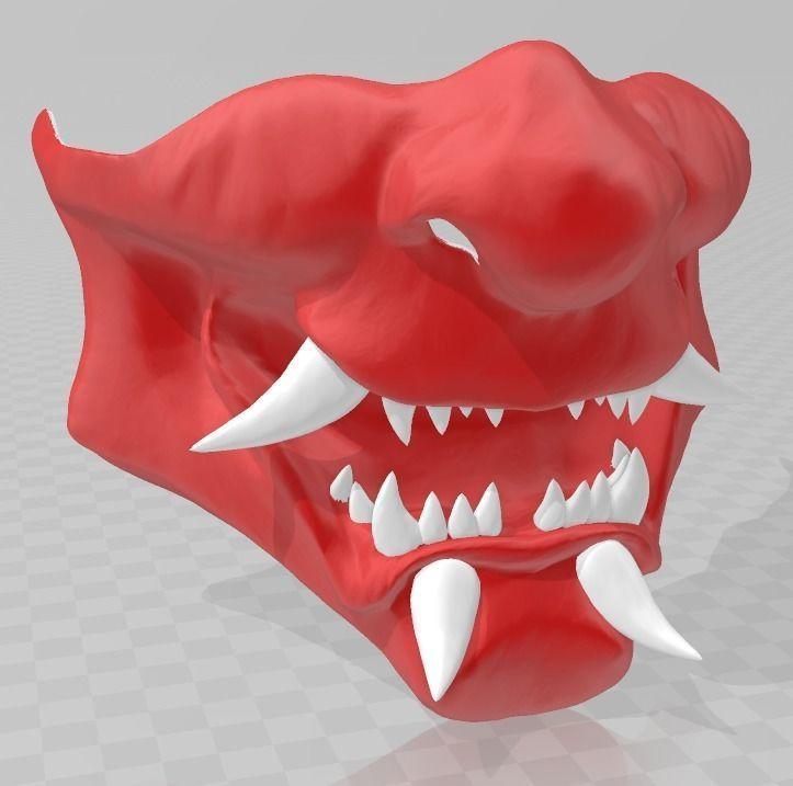 Samurai demon mask 3D printable model | CGTrader