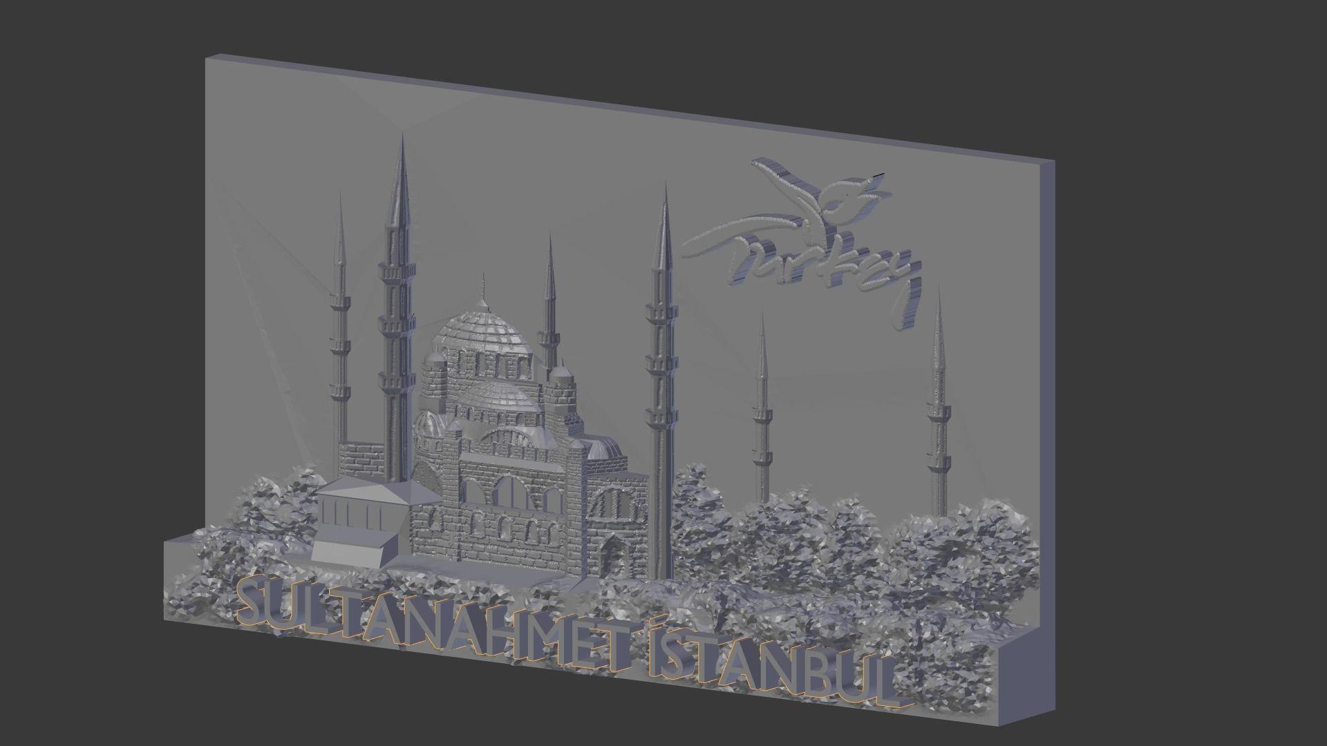 Sultan Ahmet Istanbul mosque relief