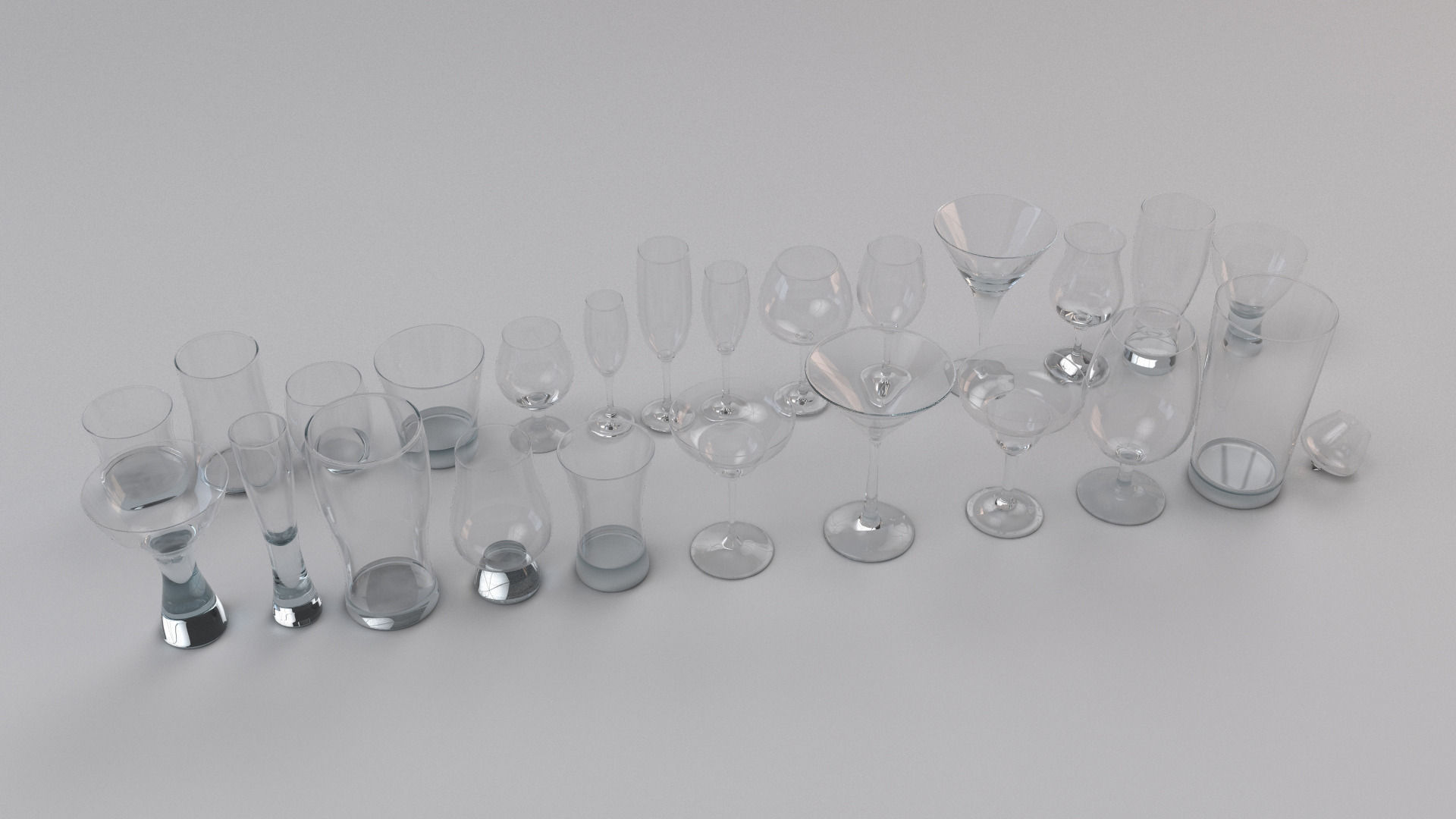 Set Collection of Glass