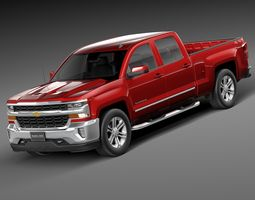 Chevrolet Silverado Double Cab 2016 3D Model