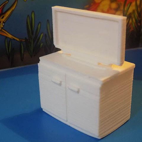 Meuble tv 3d model 3d printable stl for Meuble 8 cases